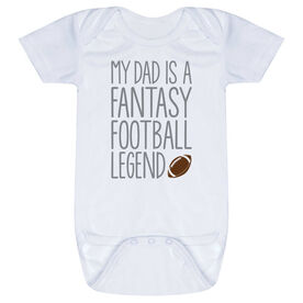 Football Baby One-Piece - My Dad Is A Fantasy Football Legend
