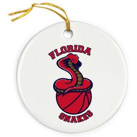Basketball Porcelain Ornament Custom Basketball Logo