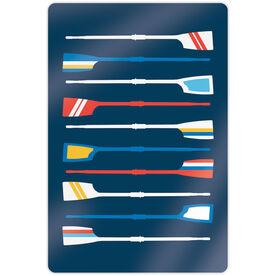 "Crew 18"" X 12"" Aluminum Room Sign - Oar Pattern"