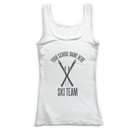 Skiing & Snowboarding Vintage Fitted Tank Top - Personalized Team