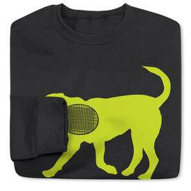 Tennis Crew Neck Sweatshirt - Dennis The Tennis Dog
