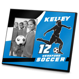 Soccer Photo Frame Personalized Soccer Female Player