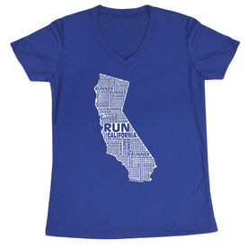 Women's Running Short Sleeve Tech Tee California State Runner