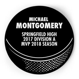 Hockey Circle Plaque - Puck With Text