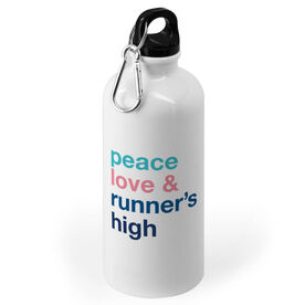 Running 20 oz. Stainless Steel Water Bottle - Peace Love & Runner's High