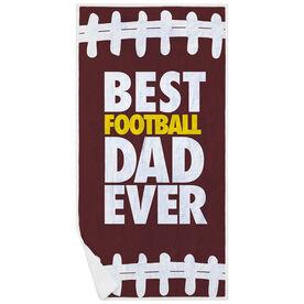 Football Premium Beach Towel - Best Dad Ever
