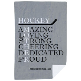 Hockey Premium Blanket - Mother Words