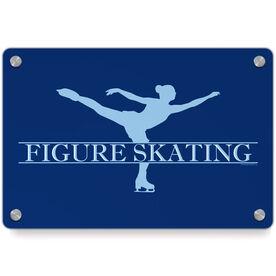 Figure Skating Metal Wall Art Panel - Crest