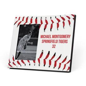 Baseball Photo Frame - Personalized Stitches