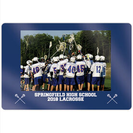 "Guys Lacrosse 18"" X 12"" Aluminum Room Sign - Team Photo"