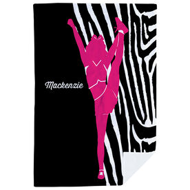 Cheerleading Premium Blanket - Girl with Zebra Stripes