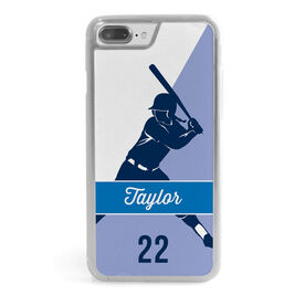 Softball iPhone® Case - Personalized Batter Name And Number