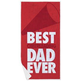 Cheerleading Premium Beach Towel - Best Dad Ever