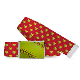 Softball Lifestyle Belt Softball Hearts