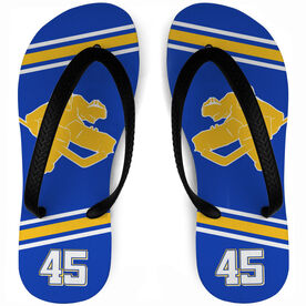 Hockey Flip Flops Personalized Goalie