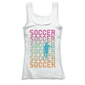 Soccer Vintage Fitted Tank Top - Soccer Girl Fade