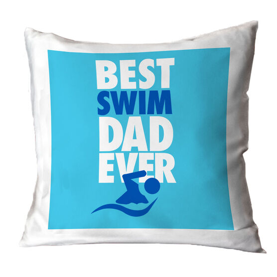 Swimming Throw Pillow Best Dad Ever
