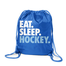 Hockey Sport Pack Cinch Sack Eat. Sleep. Hockey.