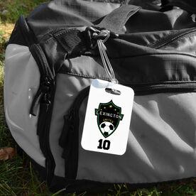 Soccer Bag/Luggage Tag - Custom Soccer Logo with Team Number