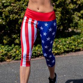 Running Performance Capris - USA