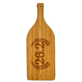 Wine Bottle Laser Engraved Bamboo Cutting Board 26.2 Vine Crest