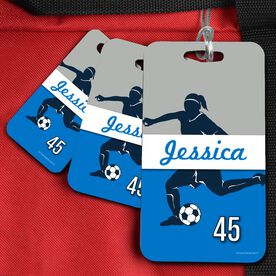 Soccer Bag/Luggage Tag Personalized Soccer Girl Name and Number