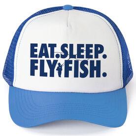 Fly Fishing Trucker Hat - Eat Sleep Fly Fish