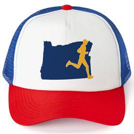 Running Trucker Hat - Oregon Male Runner