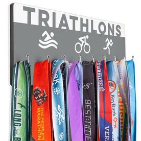 Triathlon Hooked on Medals Hanger - Triathlon Art