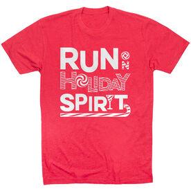 Running Short Sleeve T- Shirt -  Run On Holiday Spirit