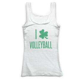 Volleyball Vintage Fitted Tank Top - I Shamrock Volleyball