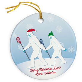 Guys Lacrosse Porcelain Ornament Abominable Lax Dad