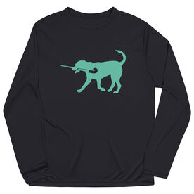 Field Hockey Long Sleeve Performance Tee - Flick The Field Hockey Dog