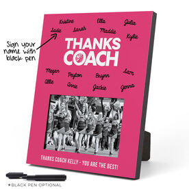Cheerleading Photo Frame - Coach (Autograph)