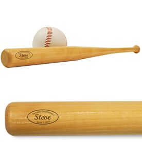 Genuine Groomsman Mini Engraved Baseball Bat