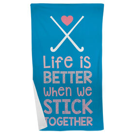Field Hockey Beach Towel Stick Together