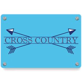 Cross Country Metal Wall Art Panel - Crest