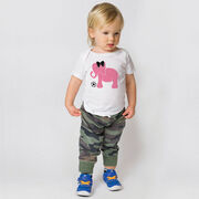 Soccer Baby T-Shirt - Soccer Elephant with Bow