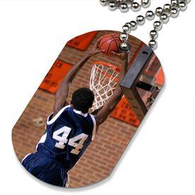 Custom Basketball Photo Printed Dog Tag Necklace