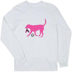 Soccer Tshirt Long Sleeve Sasha the Soccer Dog