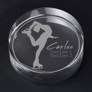 Figure Skating Personalized Engraved Crystal Gift - Personalized Silhouette (Grab)