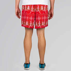 Guys Running Shorts - Ugly Christmas Sweater