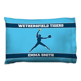 Softball Pillowcase - Personalized Pitcher