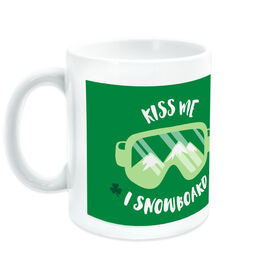Snowboarding Coffee Mug Kiss Me I Snowboard