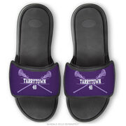 Girls Lacrosse Repwell® Sandal Straps - Personalized Crossed Sticks