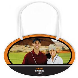 Golf Oval Sign - Team Photo