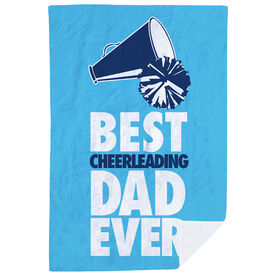 Cheerleading Premium Blanket - Best Dad Ever