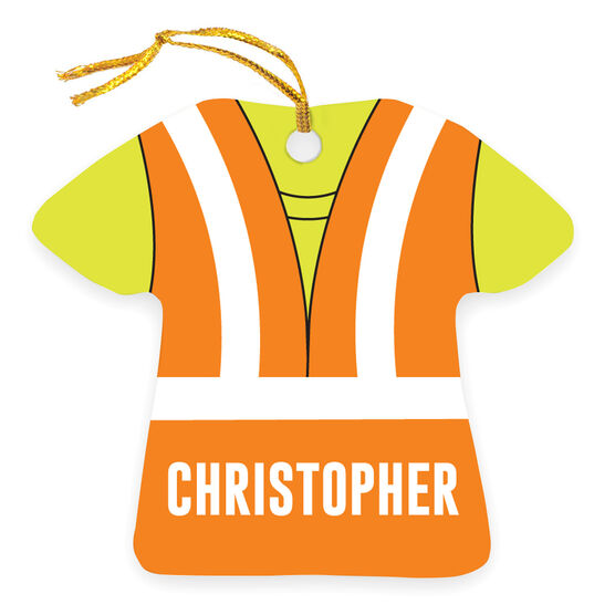 Personalized Ornament - Construction Outfit