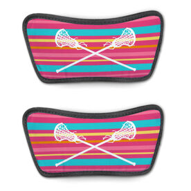 Girls Lacrosse Repwell® Sandal Straps - Crossed Sticks with Stripes
