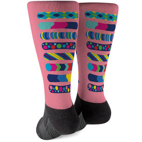 Snowboarding Printed Mid-Calf Socks - Snowboards Colorful